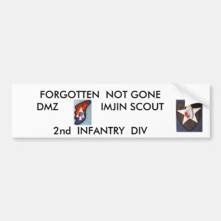 2nd Inf Div   Imjin Scout Bumper Sticker