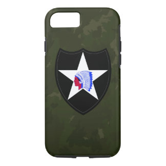 "2nd Infantry Division ""Second to None"" Army Green iPhone 7 Case"