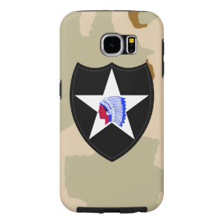 "2nd Infantry Division ""Second to None"" Desert Camo Samsung Galaxy S6 Cases"