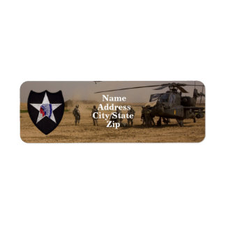 2nd infantry division vets patch return address label