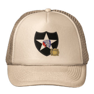 2nd Infantry SSI with 9th Inf Regt DUI Hat