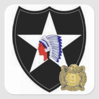 2nd Infantry SSI with 9th Infantry DUI Stickers