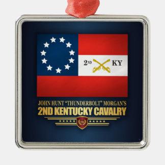 2nd Kentucky Cavalry CSA Metal Ornament