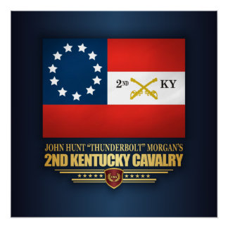 2nd Kentucky Cavalry CSA Poster