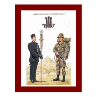 2nd King Edward VII's own Gurkha Rifles Postcard