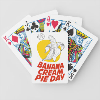 2nd March - Banana Cream Pie Day Bicycle Playing Cards