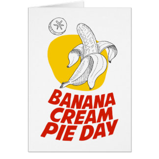 2nd March - Banana Cream Pie Day Card