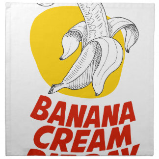 2nd March - Banana Cream Pie Day Napkin