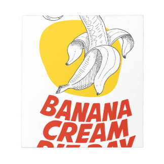 2nd March - Banana Cream Pie Day Notepads