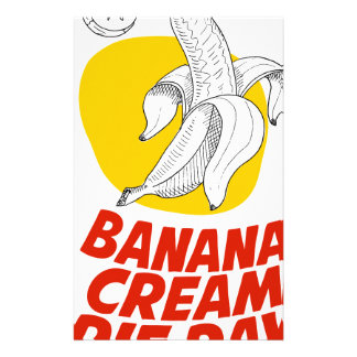 2nd March - Banana Cream Pie Day Stationery