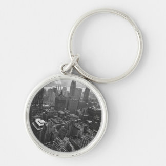 2nd May 1961:  The Chrysler building in New York Silver-Colored Round Keychain