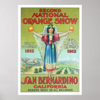 2nd National Orange Show 1912 Poster