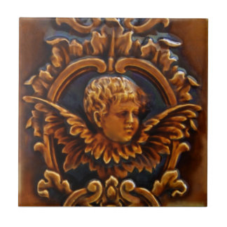 2nd of 2 Antique Victorian Cherub Angel Tile Repro