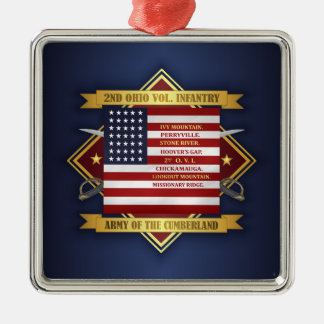 2nd Ohio Volunteer Infantry Metal Ornament