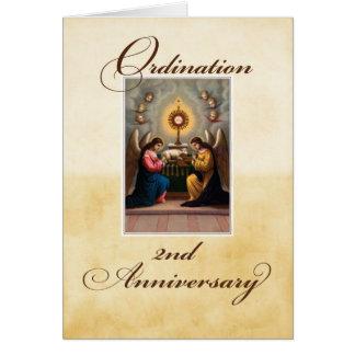 2nd Ordination Anniversary Angels at Altar Card
