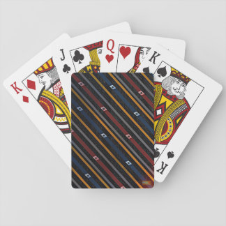 2nd Pattern; Diagonal Lines Playing Cards