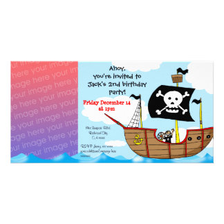 2nd pirate birthday boy party invitations