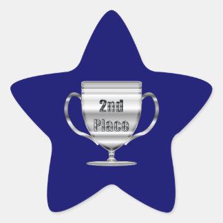 2nd Place Trophy Star Sticker