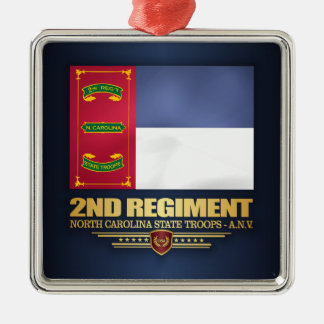 2nd Regiment, North Carolina State Troops Metal Ornament