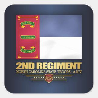 2nd Regiment, North Carolina State Troops Square Sticker