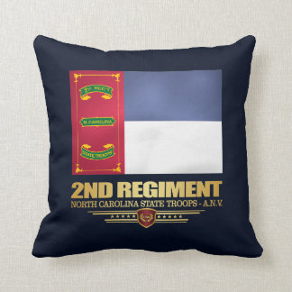 2nd Regiment, North Carolina State Troops Throw Pillow