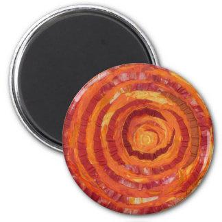 2nd-Sacral Chakra - Orange Paint-Fabric #2 2 Inch Round Magnet