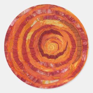 2nd-Sacral Chakra - Orange Paint-Fabric #2 Classic Round Sticker