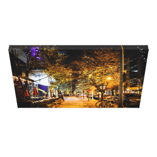 2nd Street Downtown City Lights Canvas Print