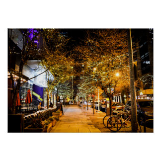 2nd Street Downtown City Lights Poster