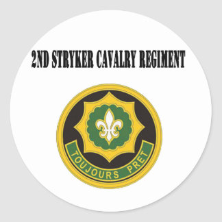 2nd Stryker Cavalry Regiment Classic Round Sticker
