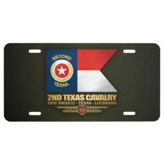 2nd Texas Cavalry License Plate