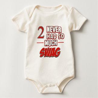 2nd year birthday designs baby bodysuit
