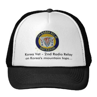 2ndrremblem thru paint, Korea Vet - 2nd Radio R... Trucker Hat