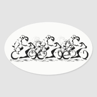2up riders oval sticker