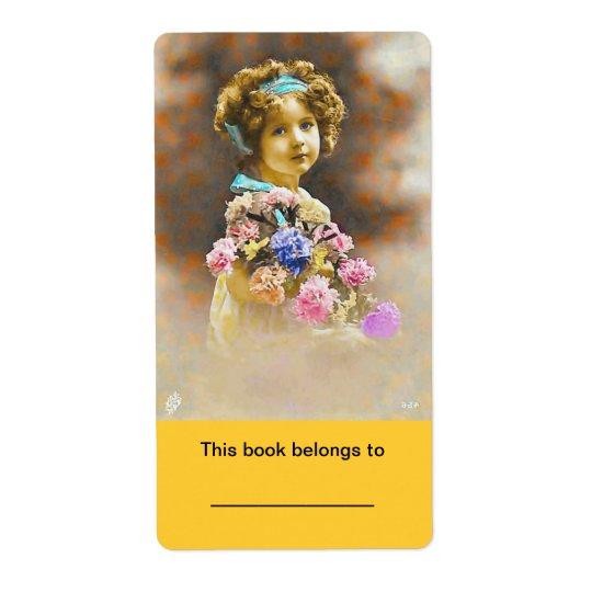 "2x3 3/4"" Bookplate (ex libris) Stickers Vintage"