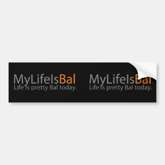 2x MyLifeIsBal Bumper Sticker