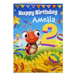 2yrs Custom birthday card Little Ladybug range