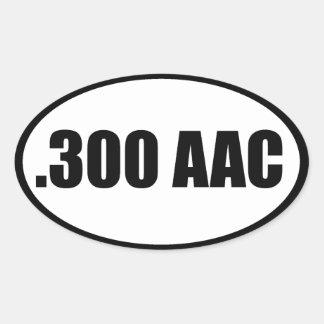 .300 AAC OVAL STICKER