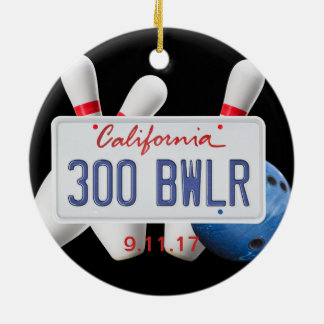 300 Bwlr, California License Place, 300 Game Ceramic Ornament