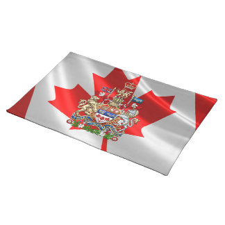 [300] Canada Coat of Arms [3D] Place Mats