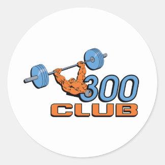 300 Club Classic Round Sticker