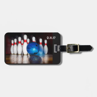 300 Game Ball and Pins Luggage Tag