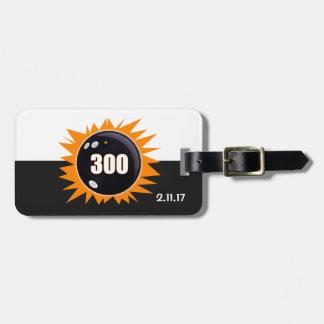 300 Game Orange Glow Luggage Tag