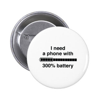 300 Percent Battery 2 Inch Round Button