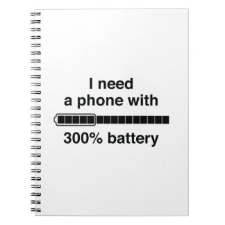 300 Percent Battery Note Book