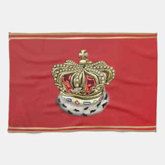 [300] Prince [King] Royal Crown [Fur+Gold][Red] Kitchen Towel