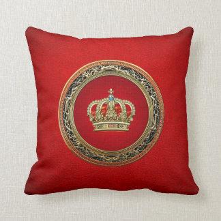 [300] Prince-Princesse Roi-Reine Crown [Belg.Gold] Coussin Décoratif