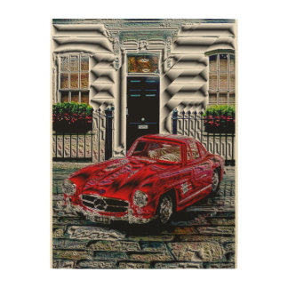 300SL - Digitally Work - Jean Louis Glineur Wood Print