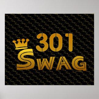 301 Area Code Swag Print