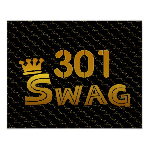 301 Area Code Swag Print